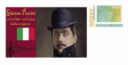 Spain 2013 - History Of Classical Music - Giacomo Puccini Special Prepaid Cover - Musica
