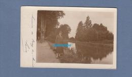 CPA Photo - PARAY Le MONIAL - Femme Prés Du Canal - 1927 - Paray Le Monial