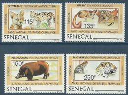"""Senegal YT 722 à 725 """" Parc National """" 1987 Neuf** - Senegal (1960-...)"""