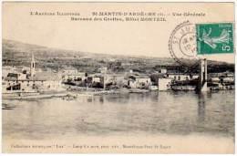 Saint Martin D'Ardèche, Vue Générale ... - Bureaux Des Grottes, Hôtel Monteil - France