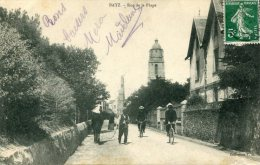 CPA 44 BATZ RUE DE LA PLAGE 1908 - Batz-sur-Mer (Bourg De B.)