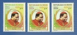 bn1101 Benin 2011 CARDINAL GAVIN 2v Michel:1648-1650 Scott:1482-1484