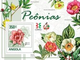 ang11103b Angola 2011 Peony Flowers s/s Michel:1857 / Bl.134 Scott:1372