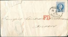 Entier Postal Enveloppe 10 Kr. Bleu Obl Ovale TRIESTE 5/11 1873 Vers Anvers (Belgique).  Entier Rare Vers La Belgique. - - Entiers Postaux