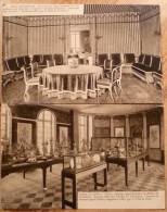 92 : Rueil Malmaison - Château - 2 CPA Issues D´un Album : Salle à Manger Et Salle Du Conseil - Rueil Malmaison