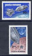 ROMANIA 1969 Apollo 9 And 10 Space Projects 4 MNH / **   Michel 2779-80 - 1948-.... Republics
