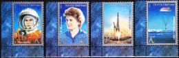 Transnistria  2013 MNH 4 V  50th Anniversary Flight In Space Valentina Tereshkova  First Woman Cosmonaut Espace