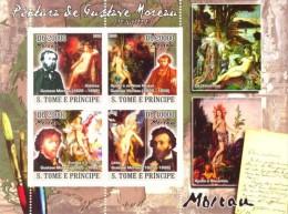 S. TOME & PRINCIPE 2008 - Gustave Moreau - YT 2828-31, Mi 3651-4, Sc 1899 - Kunst