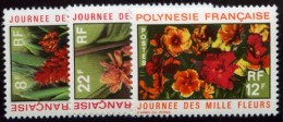French Polynesia. SC#264-266, Never Hinged, Three Stamps About Flowers - Polinesia Francese