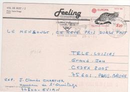 "Timbre Yvert N° 2416 "" Europa "" / Carte Du 23/06/86 - France"