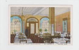 Interior, Langley´s De Luxe Restaurant, Portland, Maine, -  632 Congress. St - Salle De Restaurant Lustre Lanterne - Portland
