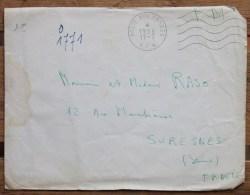 Enveloppe En Franchise Militaire Pour Suresnes Oblitération Poste Aux Armées A.F.N - Marcophilie (Lettres)