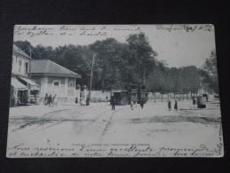 """CHAVILLE (Hauts-de-Seine) - Grande Rue - Rond-Point Des Ecoles - Tramway - Carte """"précurseur"""" - 13 Septembre 1903 - Chaville"""