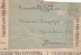ITALY - Letter 1941 - Ufficio Censura - Posta Estera (missing Stamp) - Storia Postale