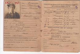1916 CARTE D'IDENTITE NICE ITALIENNE AVEC 7 ENFANTS   /4377 - Documenti Storici