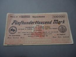 1923 GERMANY ( GUTSCHEIN ) RARE 500.000 MARK - Germany