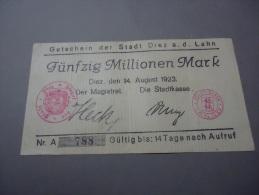 1923 GERMANY ( GUTSCHEIN ) RARE 50.000.000 MARK - Germany