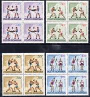 ROMANIA 1969 European Boxing Championships In Blocks Of 4 MNH / **   Michel 2767-70 - 1948-.... Repúblicas