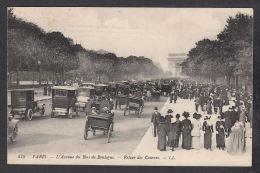 14942/ PARIS, L'Avenue Du Bois De Boulogne, Retour Des Courses, 1912, 2 Scans - Arrondissement: 16