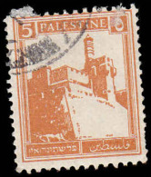 Palestine Scott # 67, 5m  Brown Orange (1927) Citadel At Jerusalem, Used - Palestine