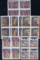 ROMANIA 1970 Moldavian Frescoes In Blocks Of 4  MNH / **  Michel 2856-61 - 1948-.... Republics