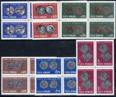 ROMANIA 1970 Ancient Coins In Blocks Of 4  MNH / **  Michel 2850-55 - 1948-.... Republics