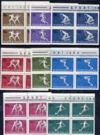 ROMANIA 1969 Sports In Blocks Of 4  MNH / **  Michel 2747-54 - 1948-.... Republics