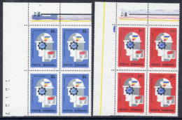 ROMANIA 1969 INTEREUROPA In Blocks Of 4  MNH / **  Michel 2764-65 - 1948-.... Republics