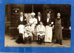 75 PARIS TAVERNE ALSACIENNE CARTE PHOTO UNIQUE BIERE F POUSSET/SPATENBRAU - Cafés, Hôtels, Restaurants