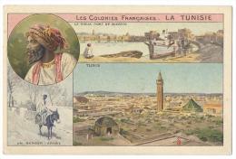 LA TUNISIE - Ancienne Colonie Française - Tunis, Le Vieux Pont De Bizerte - Publicité Chocolats & Thés Cie Col - Pubblicitari