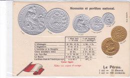CARD MONETE PERU BANDIERA IN RILIEVO COME DA SCANNER   -FP-N-2-0882-19211 - Monete (rappresentazioni)
