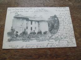 CPA De Saint Agrève (Ardèche) - Château De Lacour -  Daté 1901 - Carte Animée De Personnages - Saint Agrève