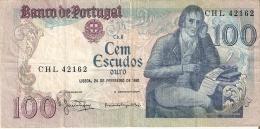 BILLETE DE PORTUGAL DE 100 ESCUDOS  DEL AÑO 1981 SERIE CHL (BANKNOTE-BANK NOTE) - Portugal