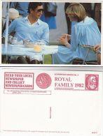 1982 Postcard PRINCESS DIANA & PRINCE CHARLES AT BROCKENHURST Royalty - Royal Families