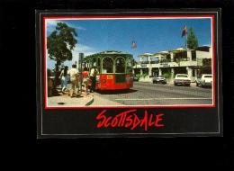 SCOTTSDALE Arizona USA Trolley Shuttle Bus Front Of Grapevine Restaurant - Scottsdale