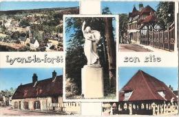 Lyons-la-Forêt, Son Site, 5 Vues, Vue Générale, Entrée Du Pays, Rue De L´Enfer,   écrite  TTB - Lyons-la-Forêt