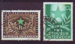 1201l: Österreich 1948- 1954, Esperanto 2 Ausgaben - Esperanto
