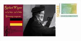 Spain 2013 - History Of Classical Music - Richard Wagner Special Prepaid Cover - Musica