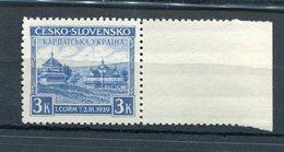 CARPATHO-UKRAINE,YR 1939,MNH **,INAUGURATION OF THE CARPATHO-UKRAINE,MARGIN - Carpatho-Ukraine