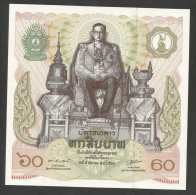 [NC] THAILAND - 60 BAHT (1987) - 60th Birthday Of His Majesty The King Of Thailand - UNC - Tailandia