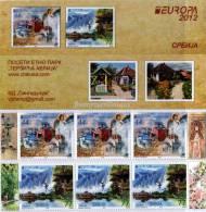 "SERBIA / SRBIJA -  EUROPA 2012 -TEMA ANUAL "" VISITE SRBIJA "".- CARNET Con TRES SERIES De 2 V. - TIPO A - 2012"