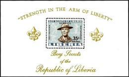 LIBERIA 1961 BOY SCOUTS S/S MNH ** Neuf SPORTS SOCCER TENNIS FOOTBALL UNIFORMS - Liberia