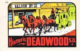 1950´s Decal (autocollant)  SOUTH DAKOTA  HISTORIC DEADWOOD - Stickers
