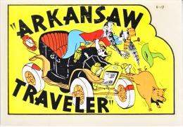"1950´s Decal (autocollant)  ARKANSAS,  ""ARKANSAW TRAVELER"" - Stickers"