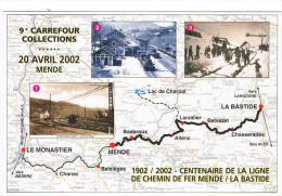 MENDE -1902-2002 CENTENAIRE DE LA LIGNE DE CHEMIN DE FER MENDE/LABASTIDE - Mende