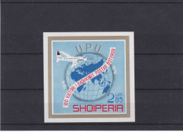 U.P.U. - Avions - Globe - Albanie - Yvert Bloc 28 ** - MNH - Valeur 30 Euros - Albanien