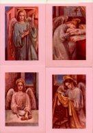 Lotto 4 Santini Cartoline (non Viaggiate) ANGELI (Bozzetto Di A. Zandrino) - PERFETTO F67 - Religione & Esoterismo