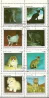 Equatorial Guinea, Cats, Sheet, Used - Guinée Equatoriale