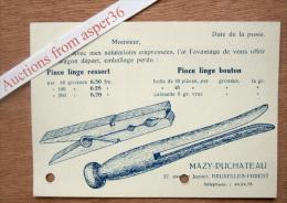 """Carte """"Pince à Linge, Mazy-Duchateau, Avenue Jupiter, Bruxelles-Forest, Usines à Gilly"""" - Colecciones"""