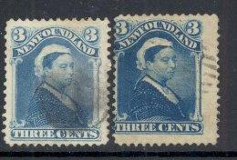 NEWFOUNDLAND, 1880 3C (pale Dull Blue And Bright Blue, SG 47 And 47a) VFU, Cat £16 - Newfoundland